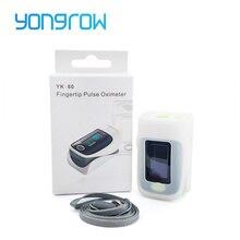 Yongrow רפואי דופק Oximeter אצבע Oximeter וסיליקון מגן כיסוי דם חמצן הרוויה מטר SPO2 PR