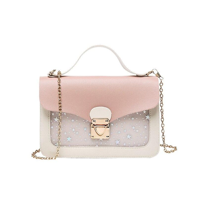 New Women Mini Square Pack Shoulder Bag Fashion Star Sequin Designer Messenger Crossbody Bag Clutch Small Wallet Handbags