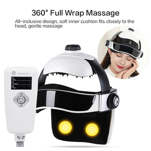 Image 4 - Electric Head Massager Brain Massage Helmet With Music Adjustable Head Size Instrument Household Head Massage Relaxation Device