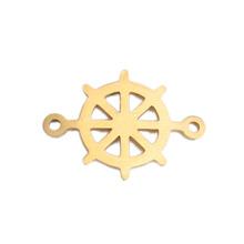 304 złącza ze stali nierdzewnej steru złoty kolor Hollow 20mm x 14mm 3 sztuk tanie tanio CN (pochodzenie) 2 4g 1 4cm 2 0cm Metal STAINLESS STEEL A5211B0160421