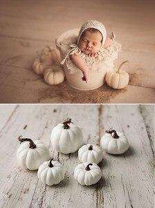 Gran imitación de Halloween de decoración del festival de calabaza blanca, accesorios de decoración para fotos de bebés y niños, accesorios de fotografía recién nacido
