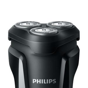 Image 2 - Philips Afeitadora eléctrica S1010 con cuchillas triples flotantes para hombre, afeitadora rotativa recargable, corporal de baño, con indicador