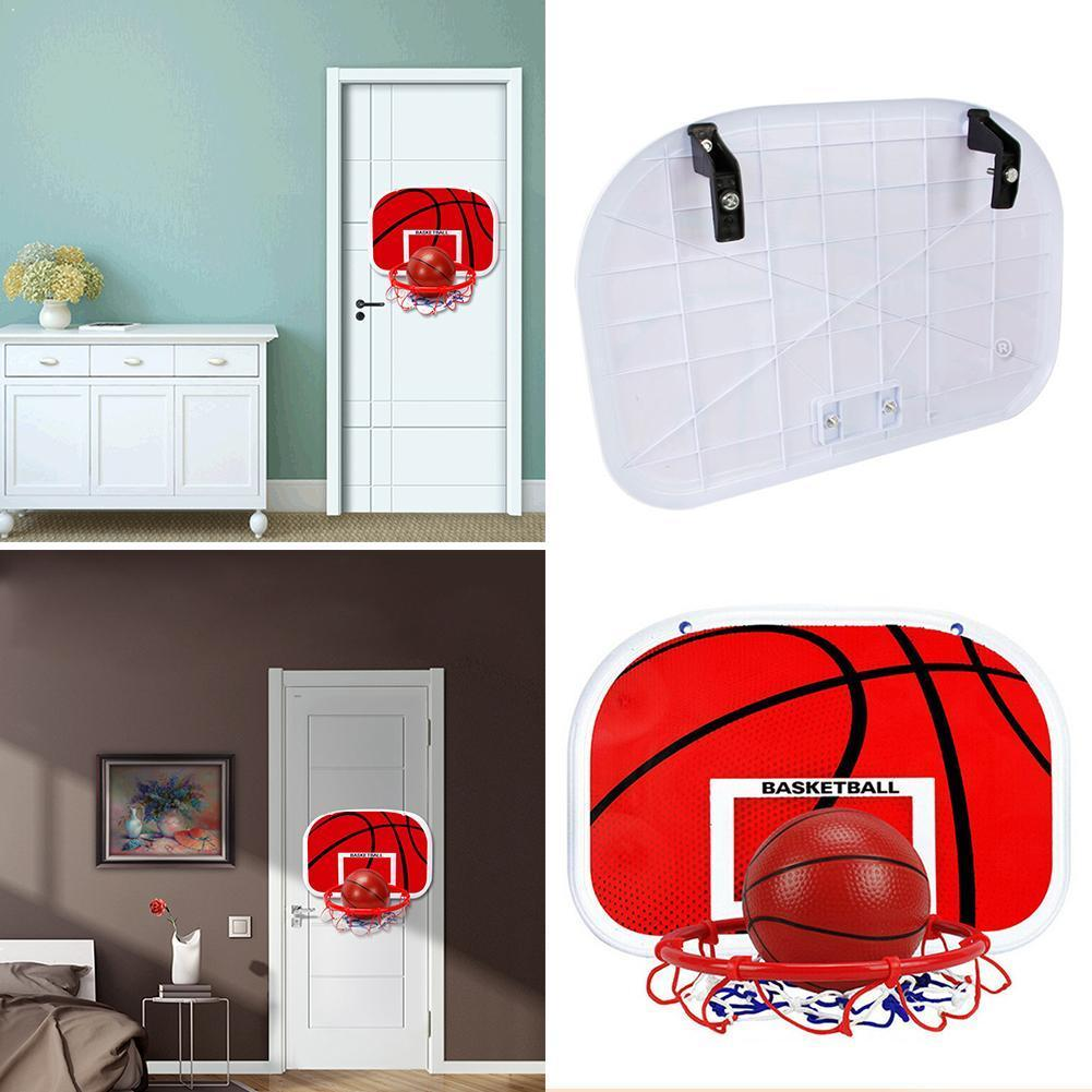 Adjustable Hanging Basketball Indoor Netball Hoop Basketball Playing Board Kids Mini For Children Basketball Box Game M2Y1
