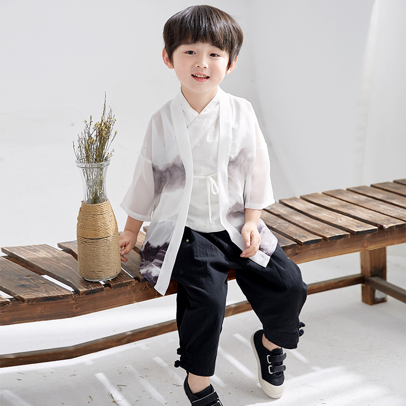 2019 Kids Boys Chinese Style Martial Arts Sets Kung Fu Uniforms Children Wushu Clothing Tai Chi Uniform Stage Performance Suits