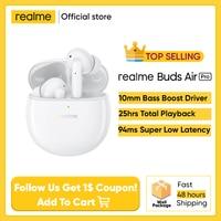 Realme Buds-auriculares TWS Air Pro, versión Global, ANC, ENC, cancelación activa del ruido, 35dB, 25 horas de reproducción, carga rápida