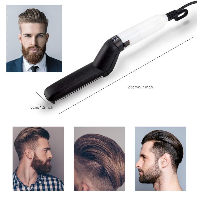 Multifunctional Hair Comb Brush Beard Straightener Hair Straightening Comb Hair Curler 6