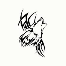 Wavehands animal lobo decalque do vinil adesivo de carro arte dos desenhos animados padrão engraçado estilo do carro decalques para janela automóvel decoração da motocicleta
