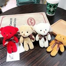 2019 Cartoon Teddy Bear plush Key chain Toy Animal Plush Keychains Kawaii Children Gift Women Bag Car Pendant Ring
