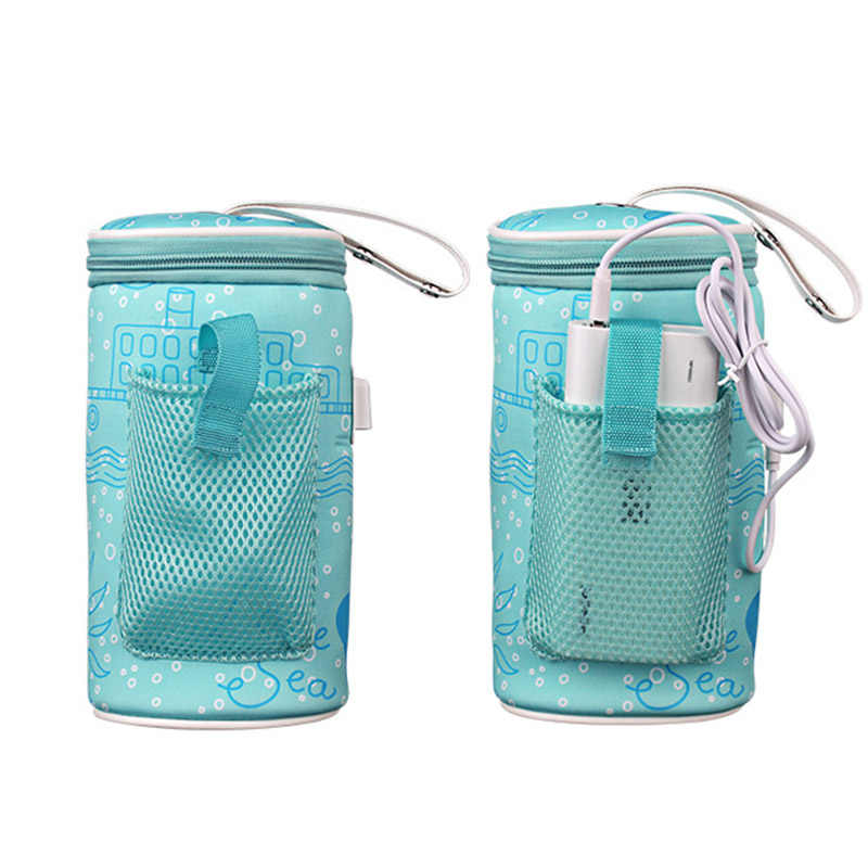 Hot Baby Milk Bottle Warmer Bag USB Heating Baby Bottle Carrying Bags D6
