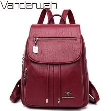 Luxury Women Backpacks 2019 Soft Leather Female Travel Shoulder Bags Backpack High Quality School Bags For Girls Bolsa Mochilas