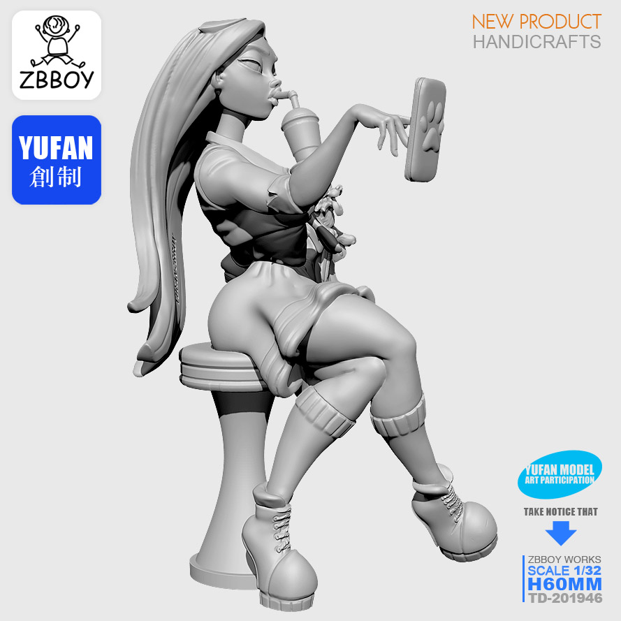 1/32 Resin Kits Modern Woman Resin Soldier Sefl-assembled TD-201946