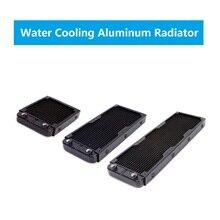 PC Water Cooling Aluminum Radiator Multi Channels Cooler 80/120/240/360mm CPU GPU Heatsink Computer Overclocking RGB Gaming