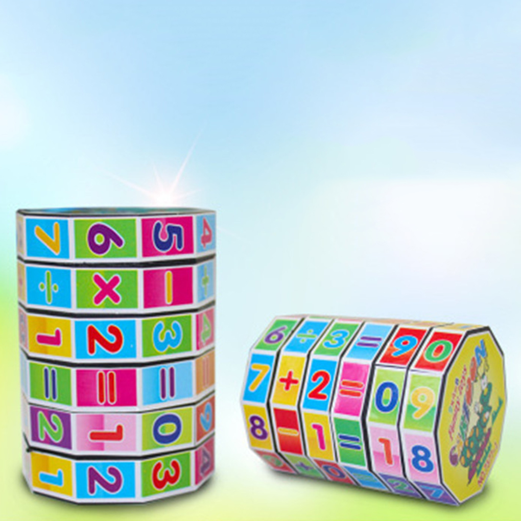 Learning Educational Math Toy Rotating number magic cube Puzzle Cube For Kids children Number arithmetic Training Fun