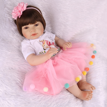 45cm Bonecas Doll toy all body silicone vinyl water proof bath toy popular hot selling  lifelike toddle reborn dolls for kids