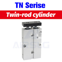 TN32 two rod cylinder TN double acting bore size 32mm stroke 10-200mm with magnet Air pneumatic Cylinder TN32X10S TDA32X30S