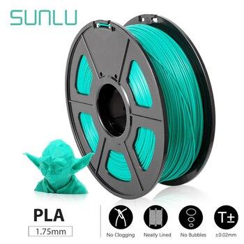 fast ship new zhuhai SUNLU pla 1.75mm 1kg filament 3d printing materials imported pla plastic granule Pollution-free material