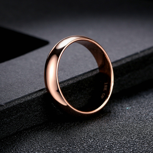 Wedding Gold Color Rings For Women Promise Dating Couple Rings Jewellry Women' Men' Ring Simple Fashion Jewelry Wholesale R049 5