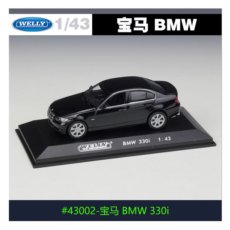 1:43 Alloy Models Car Welly 330i Metal Toy Car Kids Toy Adult Collection DieCast Vehicles High Simulation Car Model
