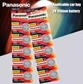 Panasonic Оригинал 10 шт./лот cr 2032 кнопочные батарейки 3 в монета литиевая батарея для часов пульт дистанционного управления калькулятор cr2032