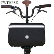 TWTOPSE British Flag Bicycle Large Basket Bag For Brompton Folding Bike Bag With Rain
