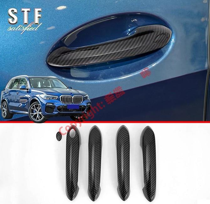 Carbon Faser Stil Auto Dekoration Tür Griff Abdeckung Trim Molding Mit Smart Loch Für BMW X5 G05 2019 2020-in Chrom-Styling aus Kraftfahrzeuge und Motorräder bei title=