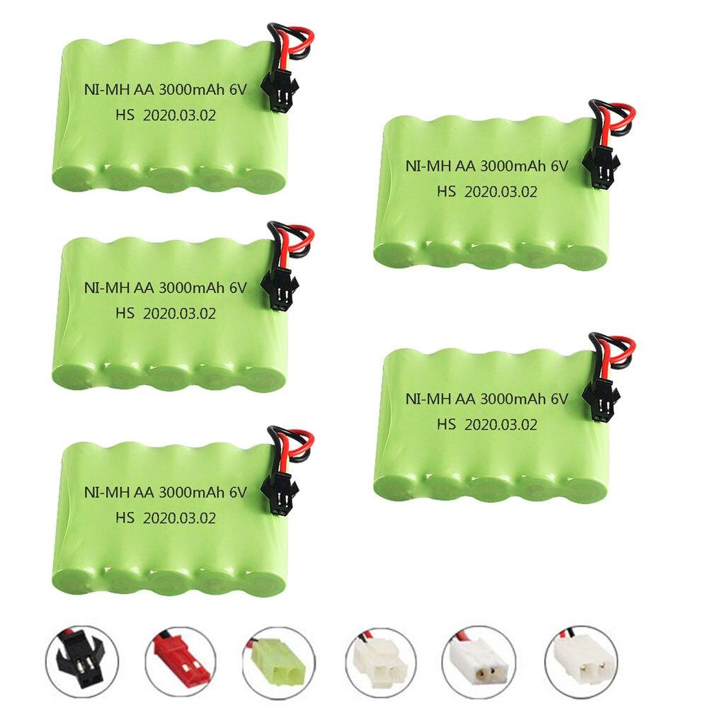 Ni-mh аккумулятор 6 в 3000 мА/ч, модель M SM/JST/с вилкой для радиоуправляемой игрушки, электрические игрушки, средства безопасности, электрическая и...