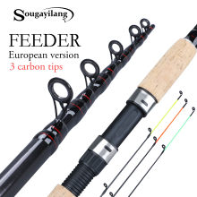 Sougayilang 3.0-3.6 M Feeder Fishing Rod 2/6 Bagian Telescopicspinning Perjalanan Batang Pesca Carp Feeder 60-180G tiang Ikan Tackle(China)