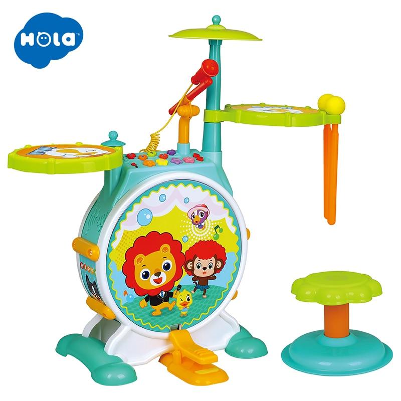 Children Kids Jazz Drum Set Kit Musical Educational Instrument Toy Drums Stool Drum Sticks for Kids in Toy Musical Instrument from Toys Hobbies