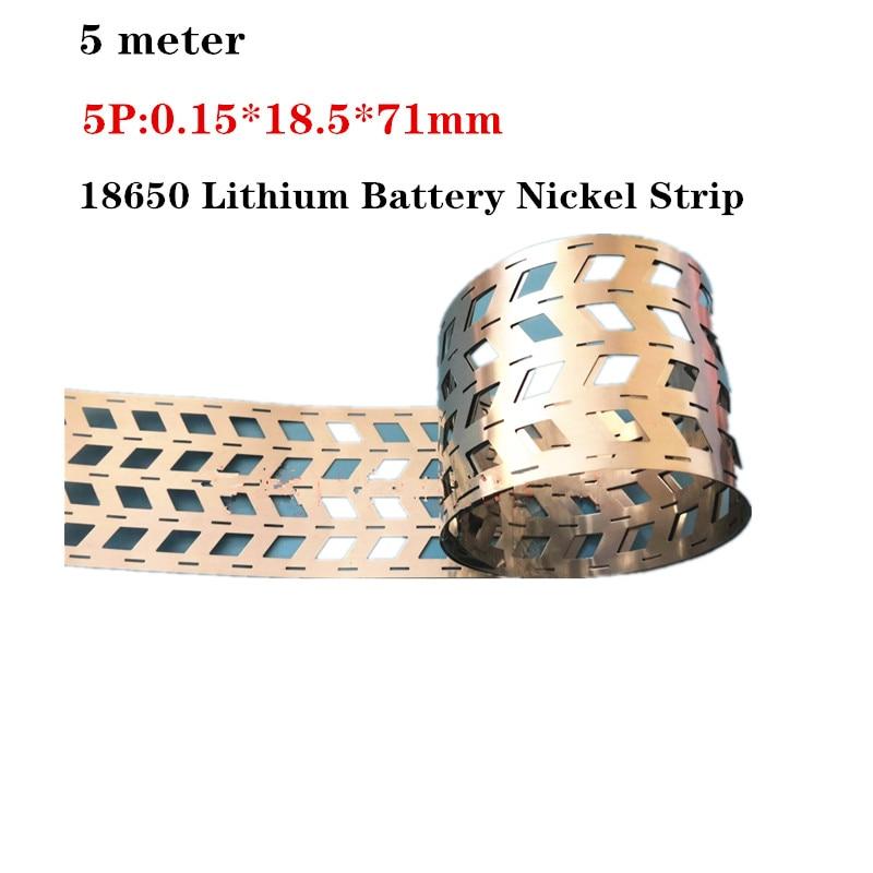 5 Meter  5P 18650 Lithium Battery Nickel Strip Nickel Sheets Spot Welding Battery Nickel Plated Nickel Belt Spot Welder