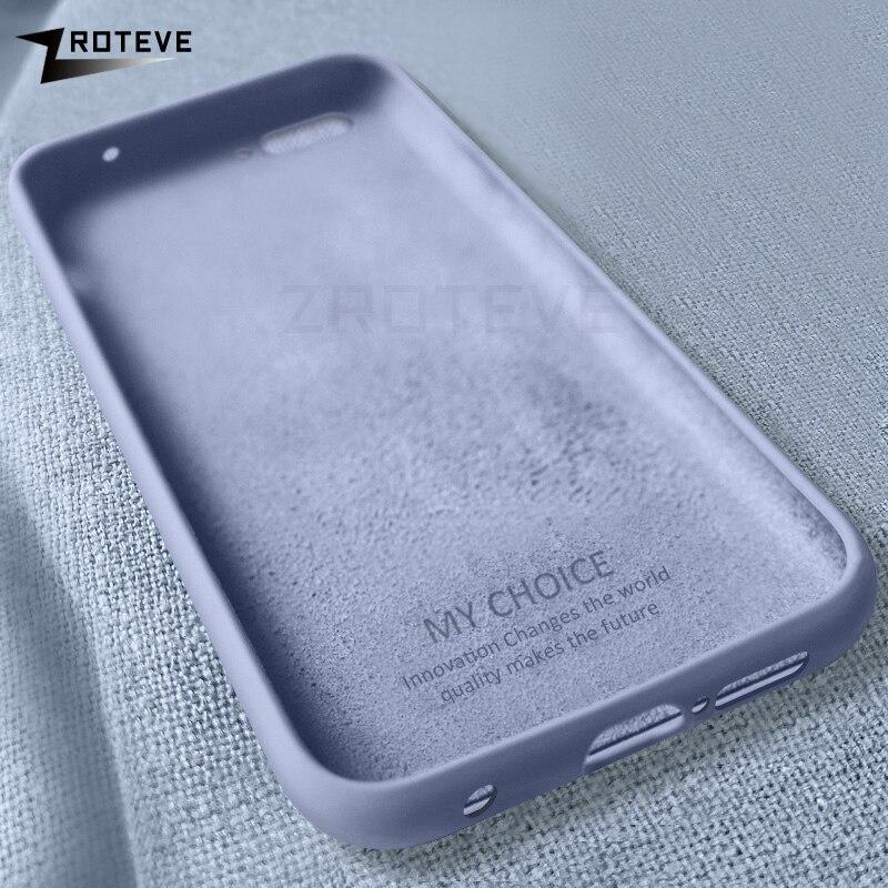 Honor 10 Case ZROTEVE Liquid Silicone Coque For Huawei Honor 9X 8 9 10 Lite Case Smooth Cover For Huawei View 20 V20 V10 V9 Case