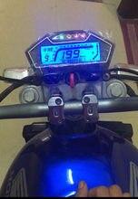 Alle In Einer Funktion Motorrad Speedo Odo Tacho Meter Gauge MPH Kraftstoff Getriebe Anzeige Digital Display 12V 13000RPM moto Instrument