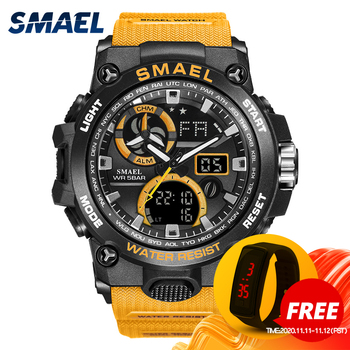 Sport Watch Men SMAEL Brand Toy Mens Watches Military Army S Shock 50m Waterproof Wristwatches 8011 Fashion Men Watches Sport