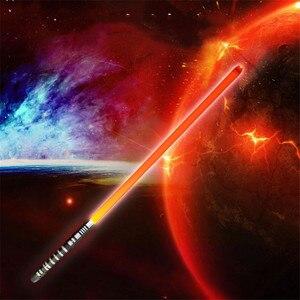 Image 4 - 16 لون RGB ضوء صابر USB شحن جيدي سيث لوك القوة ضوء صابر الصوت مقبض معدني السيف مضيئة لعب الأطفال هدية