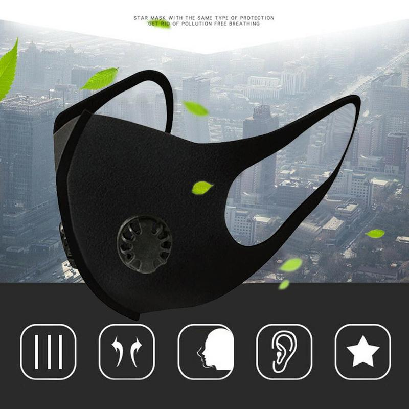 Sport Face Mask With Activated Carbon Pm 2.5 Anti-pollution Running Cycling Mask Air Reusable Sponge Masks Drop Ship