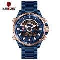 KADEMAN  люксовый бренд  мужские спортивные цифровые часы  полностью стальные  кварцевые  светодиодный  двойной дисплей  мужские часы  армейски...