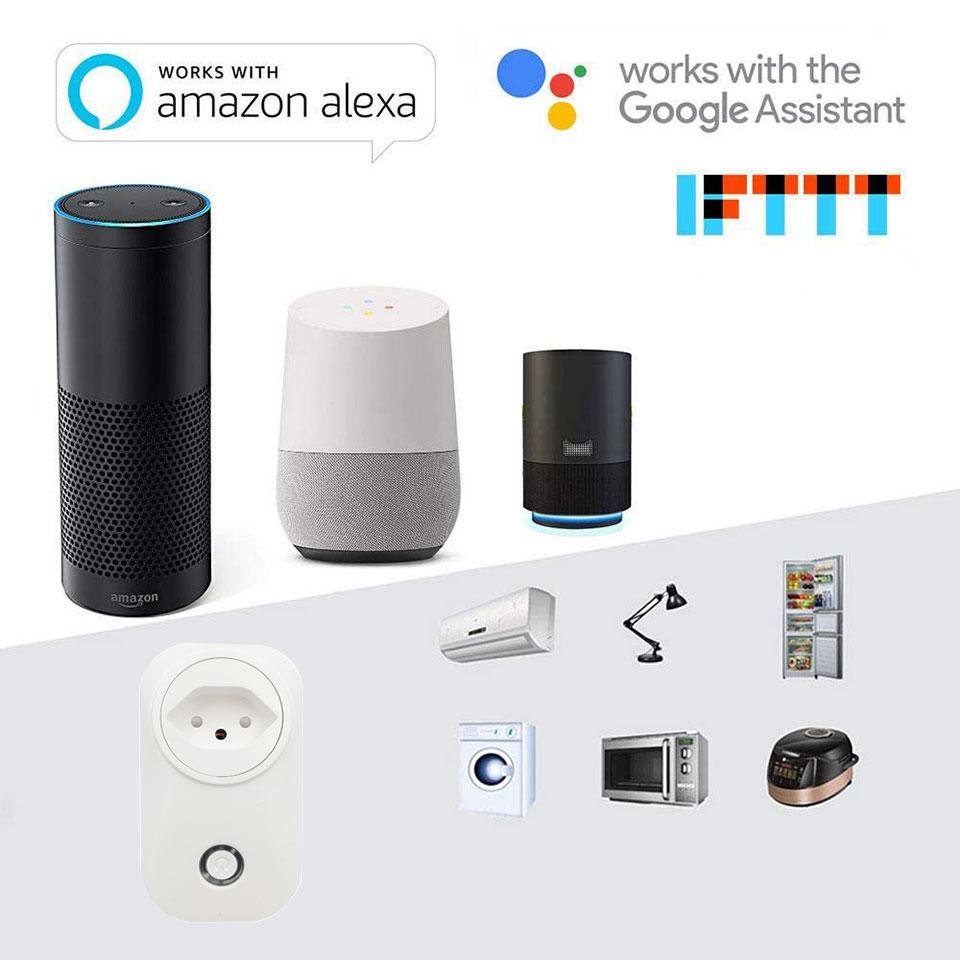 Switzerland Smart Plug Wifi Socket Swiss Plug 16A Power Monitor CH Outlet Tuya Smart Life Works With Alexa Google Home