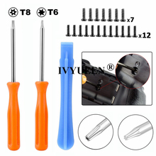 IVYUEEN Game Tools Kit For Xbox One X S Slim / Elite Controller Torx T8H T6 Screwdriver Tear Down Repair Tool with Screws