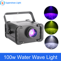 DMX Magic Water Wave Projector 100W Colorful Ripple Water Effect Stage Lighting