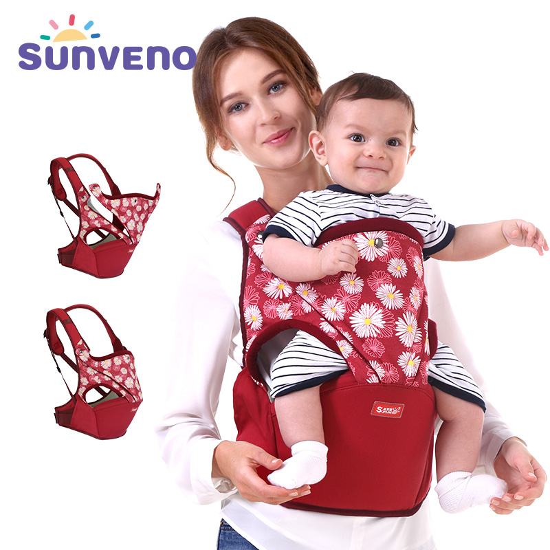 Sunveno Cotton Baby Carrier Front Facing Ergonomic  Baby Wrap Infant Hipseat Sling For Newborn Safety Brand Clearan