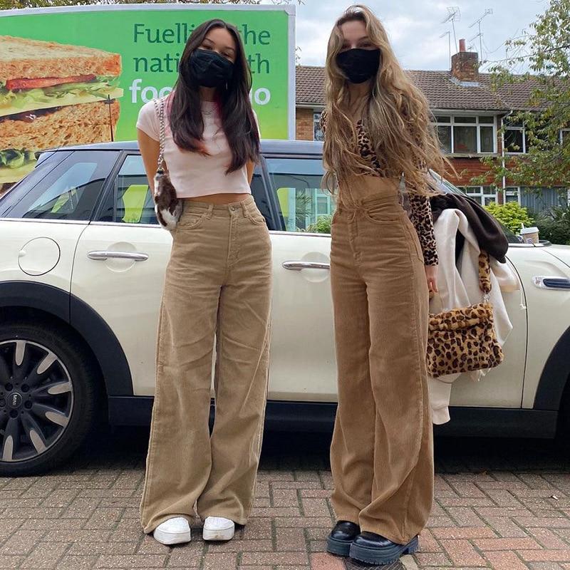 Новые супер светильник кие бархатные брюки в стиле ретро в европейском и американском стиле, коричневые широкие брюки, удобные джинсы в ули...