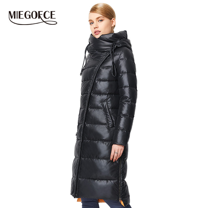 MIEGOFCE 2019 Modische Mantel Jacke frauen Mit Kapuze Warme Parkas Bio Flusen Parka Mantel Hight Qualität Weibliche Neue Winter Sammlung