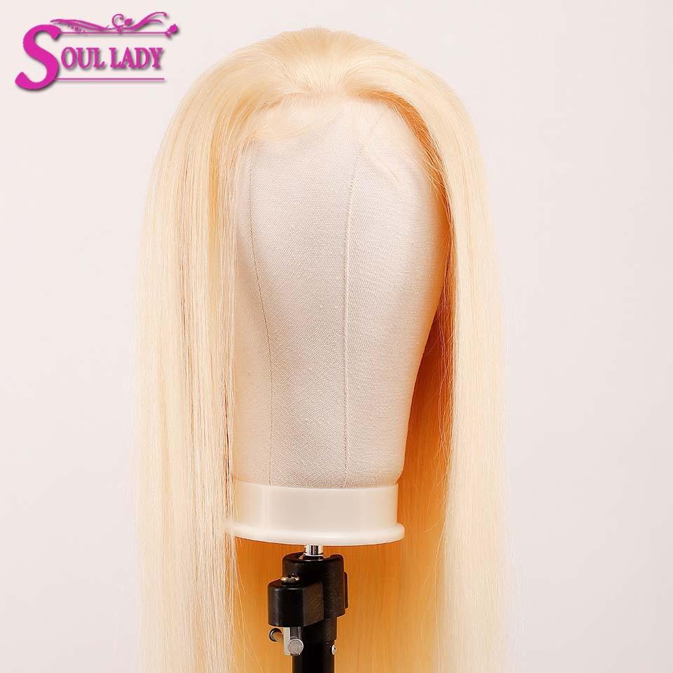 613 Honing Blonde Lace Front Pruik 13X4 Lijmloze Rechte Kant Voor Pruik 180% Braziliaanse Remy Menselijk Haar Transparante hd Lace Pruik - 3