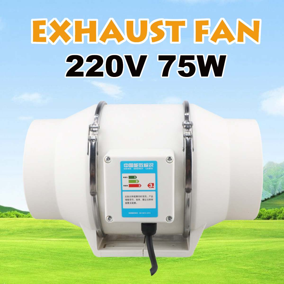 220V 6 Inch Low Noise Inline Duct Hydroponic Air Blower Fan  Exhaust Fan For Home Bathroom Ventilation Vent And Grow Room Hot