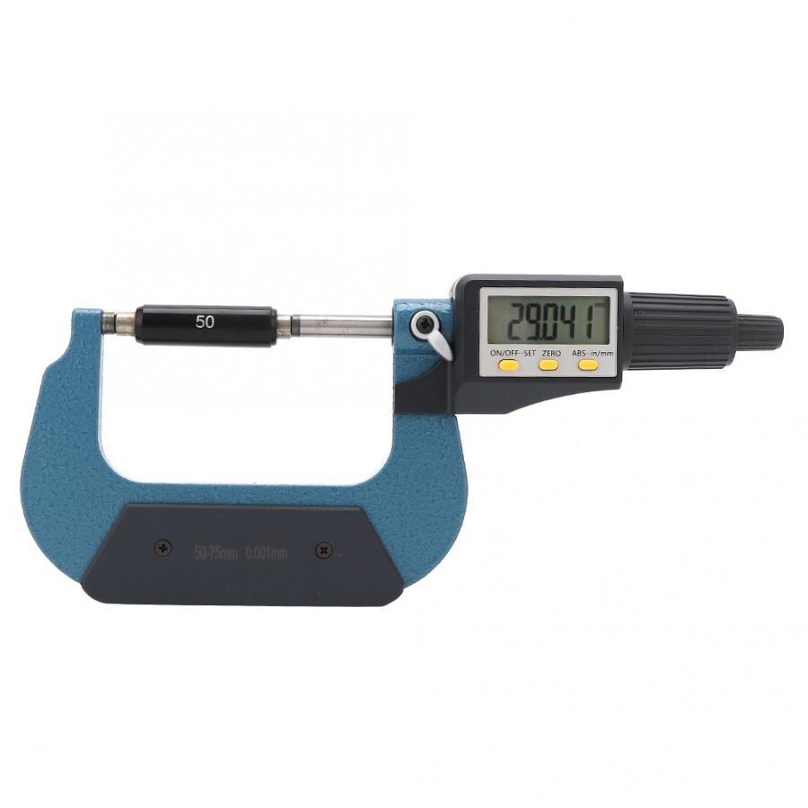 0-25MM Digital Display Micrometer,Chrome Plated Alloy Digital Display High Accuracy Low Error Micrometer 0.001mm Resolution