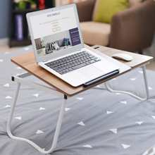 Laptop Desk Computer Table Adjustable Angle Folding Laptop Notebook Stand Tray Table Desk Foldable with Slot For Bed Sofa(China)
