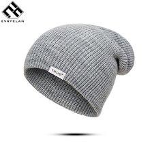 Evrfelan, стиль, вязаные шапочки, толстые теплые зимние шапочки, шапка для женщин и мужчин, шапка с буквами, унисекс, зимняя шапка, Sking cap gorras