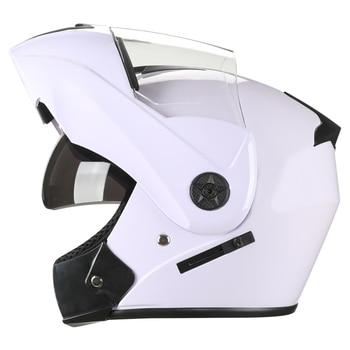 2 Gifts Unisex Racing Motorcycle Helmets Modular Dual Lens Motocross Helmet Full Face Safe Helmet Flip Up Cascos Para Moto kask 21
