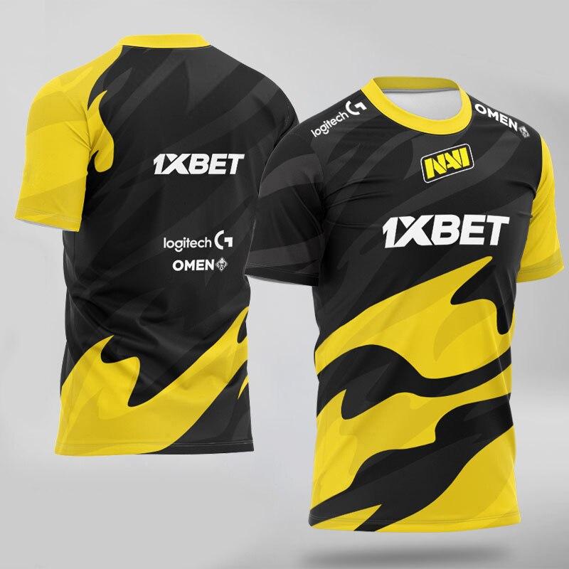 Новая футболка Navi, футболка для команды киберспорта Natus Vincere, игрока CSGO Pro, уличная одежда, униформа на заказ, мужские и женские футболки, топы,...