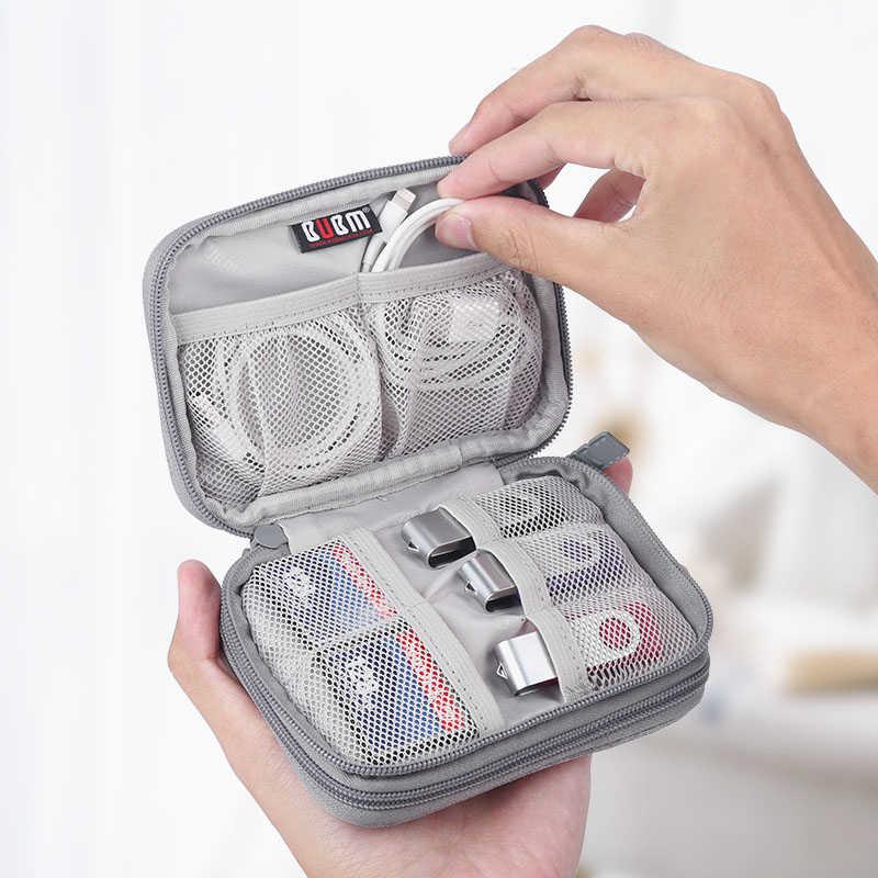 """Viagem à prova dwaterproof água disco rígido fone de ouvido caso flash usb cabo digital armazenamento organizador caixa saco caso para 2.5 """"disco rígido hdd"""