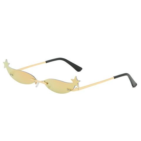 Star Frame Women Sunglasses Oculos Fashion Sexy Small Rimless Mirror Lens Ladies Men Sunglasses Sun Glasses UV400 Shades Eyewear Multan